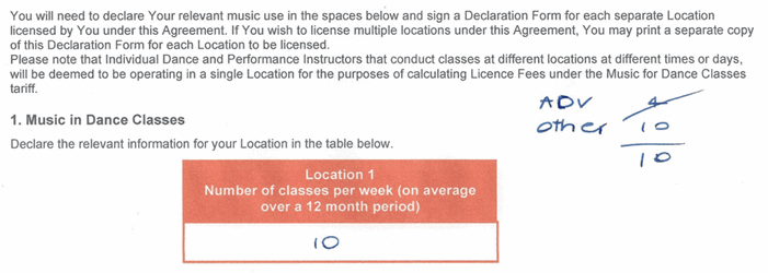 Example of licence agreement
